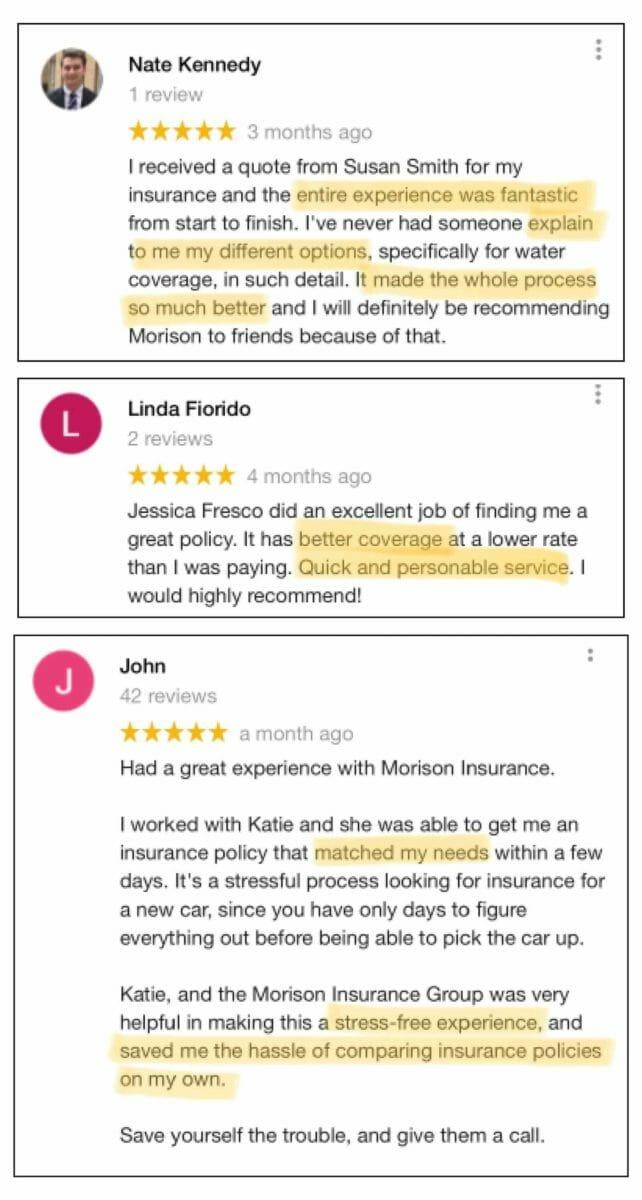 Best Insurance Coverage - Online Reviews - Morison Insurance - Ontario